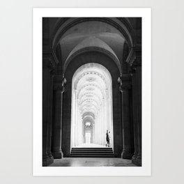 At the Louvre Art Print
