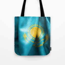 Kazakhstan Flag Tote Bag