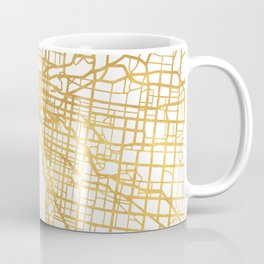 Melbourne Australia City Street Map Art Coffee Mug