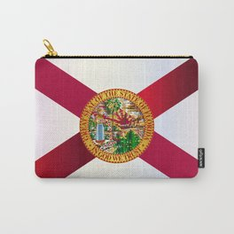 Florida State Metal Flag Carry-All Pouch