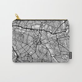 Sao Paulo Map Gray Carry-All Pouch