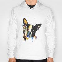 boston terrier Hoodies featuring boston terrier by Smolder Design