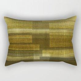 """""""Burlap Texture Greenery Shades"""" Rectangular Pillow"""
