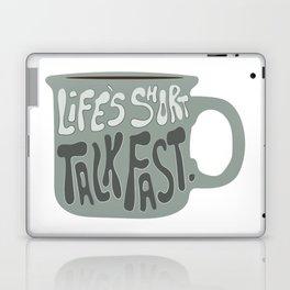 Life's Short Talk Fast in Green Laptop & iPad Skin