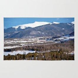 Colorado Mountain Scene near Lake Dillon Rug