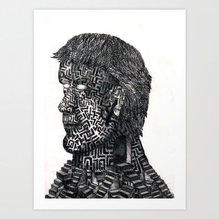 Maze ID Art Print