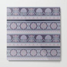 Greek antique pattern. Greek ornamental art. Metal Print