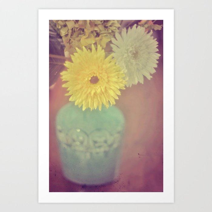 Grandma's House / Vintage Flowers Art Print