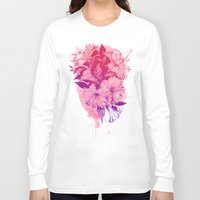hibiscus Long Sleeve T-shirts featuring Hibiscus by Magenda