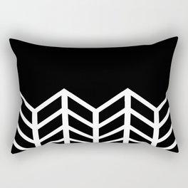 BLACK LACE CHEVRON Rectangular Pillow