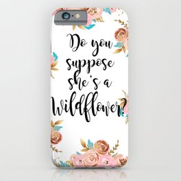 Blush and gold wildflower iPhone Case