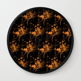 Impression of fall leaves Wall Clock