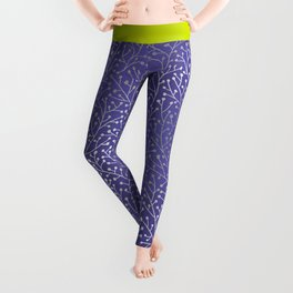 Periwinkle Berry Branches Leggings