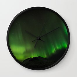 Northern Lights in Norway 03 Wall Clock