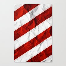 Crumbled Red Stripes Canvas Print