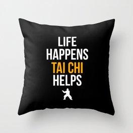 Tai Chi Chuan Taiji Chinese Martial Arts Gift Tai Chi print Throw Pillow