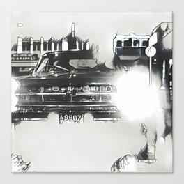 Death Drives Here Canvas Print