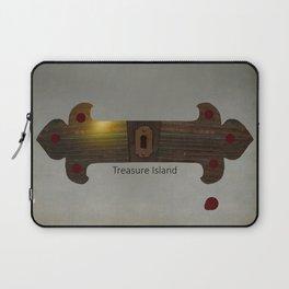 Treasure Island Minimal Poster Laptop Sleeve