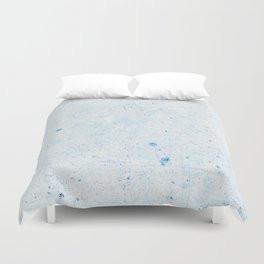 Blue Splatter Paint (Color) Duvet Cover