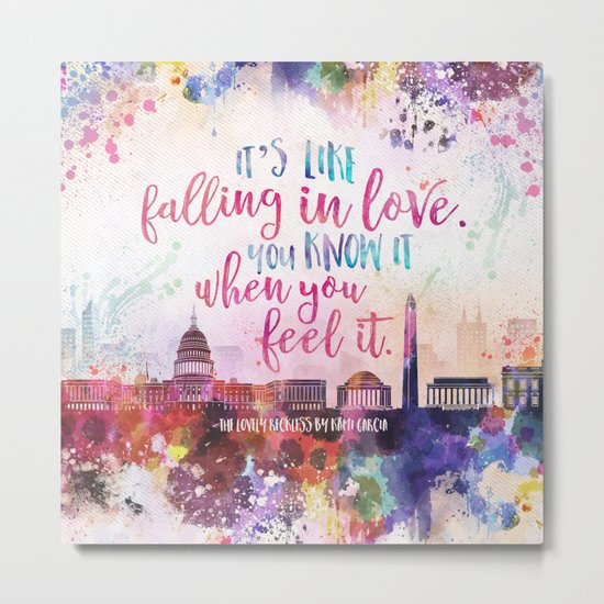 The Lovely Reckless - Like Falling in Love Metal Print
