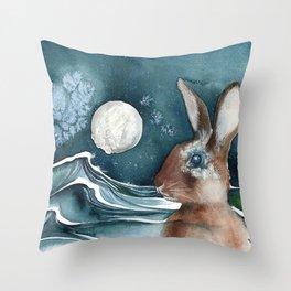 Barnacle Bunny Throw Pillow