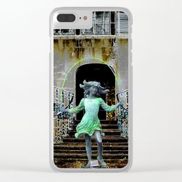 Ghost in a Madeira Mansion. Clear iPhone Case