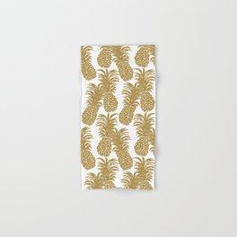 Gold Pineapples Hand & Bath Towel
