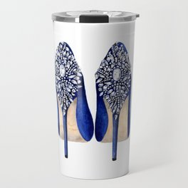 Watercolor fashion Fashion Illustration Glamour art print Fashion girl art Travel Mug