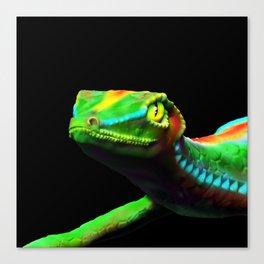 Gecko Lizard Close up 3d digital Art Canvas Print