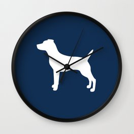 Jack Russell (Navy/White) Wall Clock