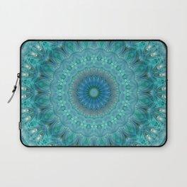 Mandala luminous Opal Laptop Sleeve