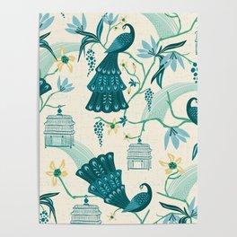 Aviary - Cream Poster