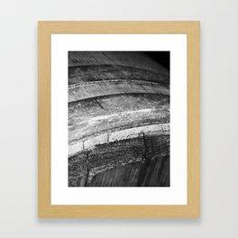 Barrels In Black & White Framed Art Print
