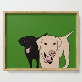 Tanner and Lily Best Labrador Buddies Serving Tray