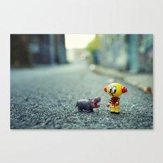HI!! I told you i don't want a pet!! Canvas Print
