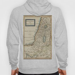 Vintage Map Print - 1780 map of Palestina by Christoph Cellarius Hoody