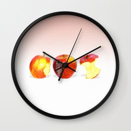 An Apple Eating Apple Wall Clock
