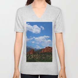 Garden Of Gods View With Kissing Camels Unisex V-Neck