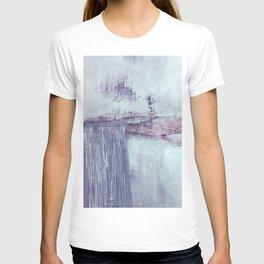 Lilac horizontal abstract T-shirt
