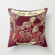 Luddy Mussy/ bull goose looney album cover Throw Pillow
