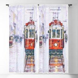 Istanbul Nostalgic Tramway Blackout Curtain