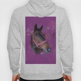 Brown Watercolour Pony Hoody