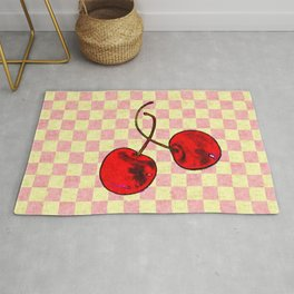 Two Red Cherries Rug