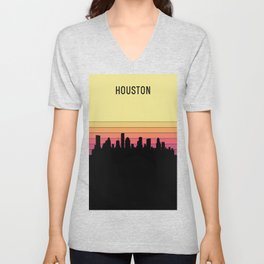 Houston Skyline Unisex V-Neck