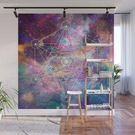Watercolor and nebula sacred geometry  Wall Mural
