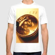 Words number 4 White Mens Fitted Tee MEDIUM