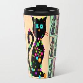 Cats and Flower Travel Mug