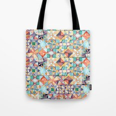 watercolour quilt Tote Bag