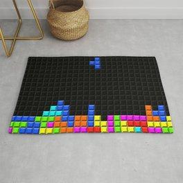 Retro Blocks Video Game Nostalgic Pattern Rug