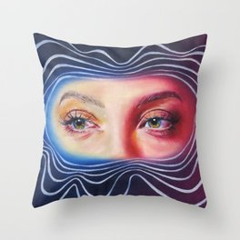 Why won't you look me in my eyes? Throw Pillow